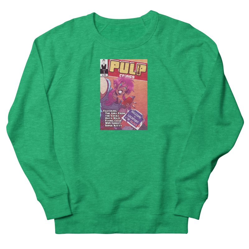Pulp 716: The Girl From the Locks Women's Sweatshirt by Pulp 716 Coffee & Comics collection by threadless