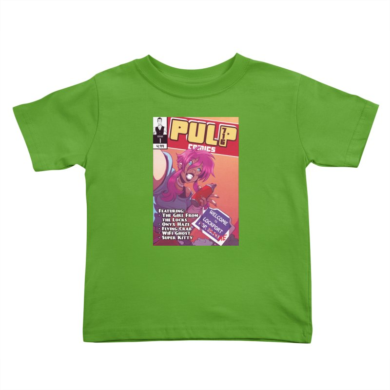 Pulp 716: The Girl From the Locks Kids Toddler T-Shirt by Pulp 716 Coffee & Comics collection by threadless