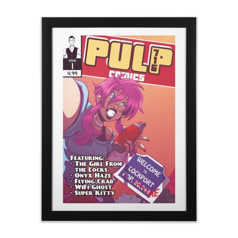 Pulp 716: The Girl From the Locks Home Framed Fine Art Print by Pulp 716 Coffee & Comics collection by threadless