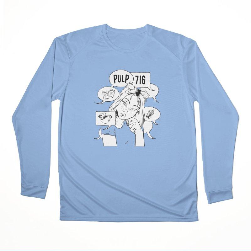 Pulp 716 Coffee & Comics Logo Women's Longsleeve T-Shirt by Pulp 716 Coffee & Comics collection by threadless