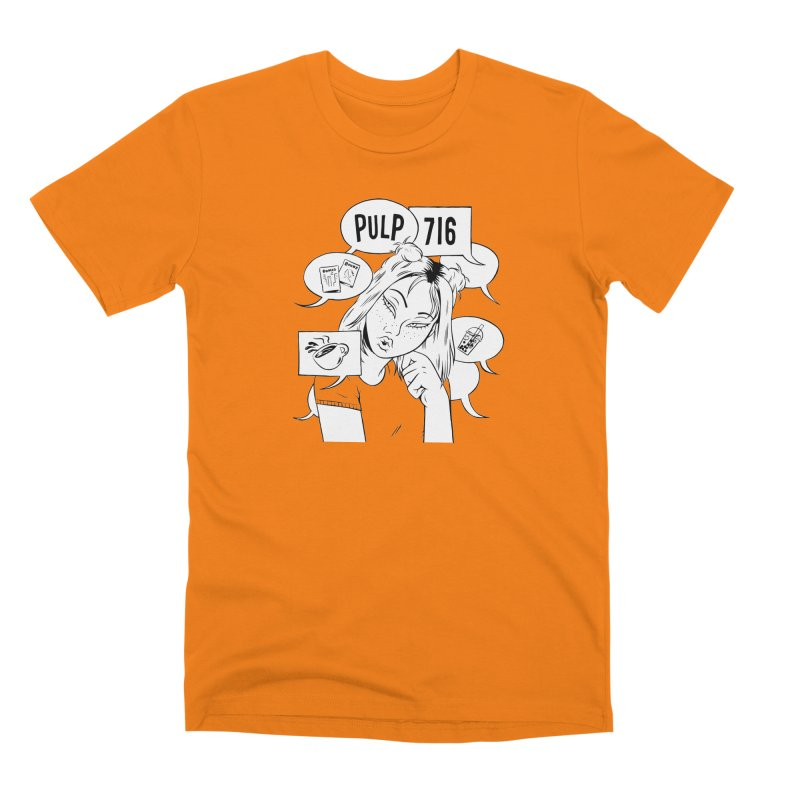 Pulp 716 Coffee & Comics Logo Men's T-Shirt by Pulp 716 Coffee & Comics collection by threadless