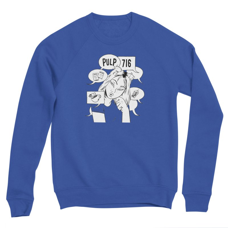 Pulp 716 Coffee & Comics Logo Women's Sweatshirt by Pulp 716 Coffee & Comics collection by threadless