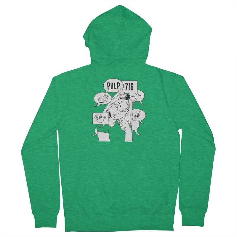 Pulp 716 Coffee & Comics Logo Men's Zip-Up Hoody by Pulp 716 Coffee & Comics collection by threadless
