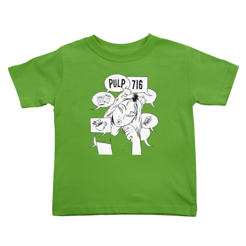 Pulp 716 Coffee & Comics Logo Kids Toddler T-Shirt by Pulp 716 Coffee & Comics collection by threadless