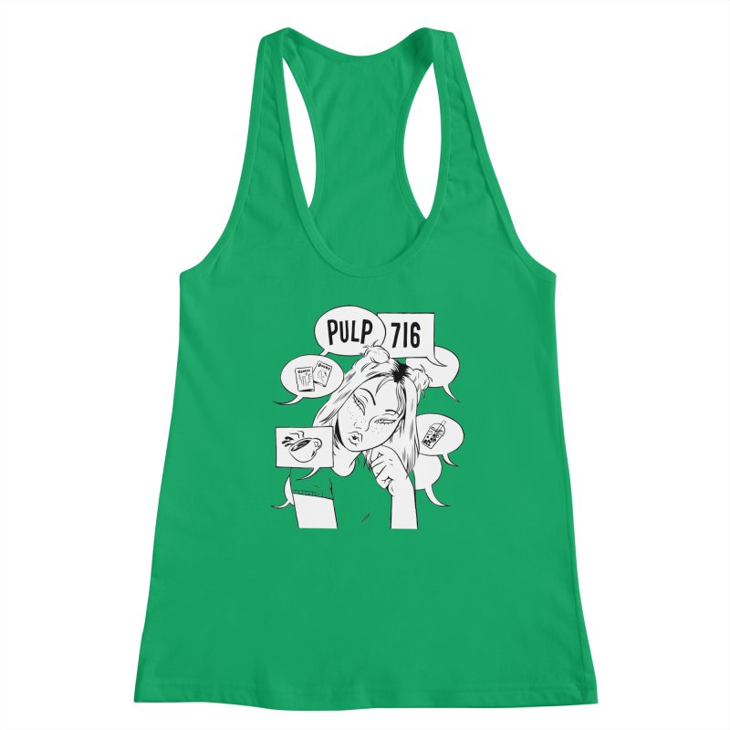 Pulp 716 Coffee & Comics Logo Women's Tank by Pulp 716 Coffee & Comics collection by threadless
