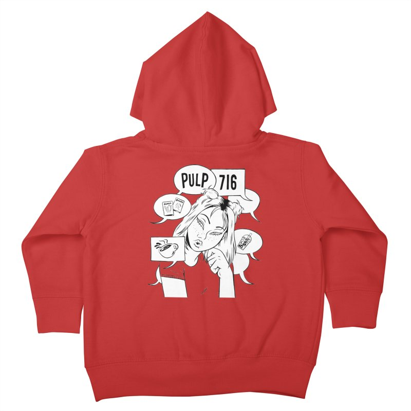 Pulp 716 Coffee & Comics Logo Kids Toddler Zip-Up Hoody by Pulp 716 Coffee & Comics collection by threadless