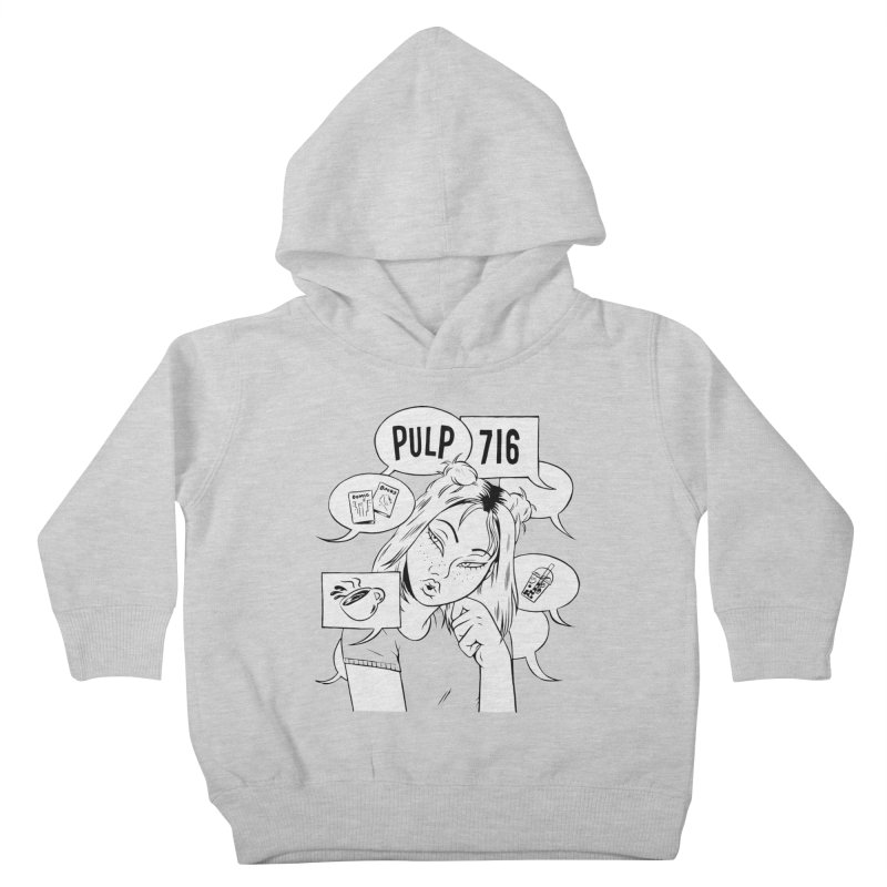 Pulp 716 Coffee & Comics Logo Kids Toddler Pullover Hoody by Pulp 716 Coffee & Comics collection by threadless