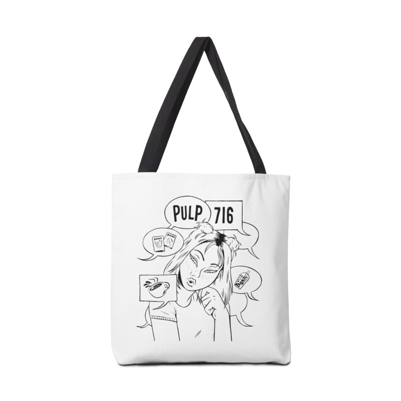 Pulp 716 Coffee & Comics Logo Accessories Bag by Pulp 716 Coffee & Comics collection by threadless