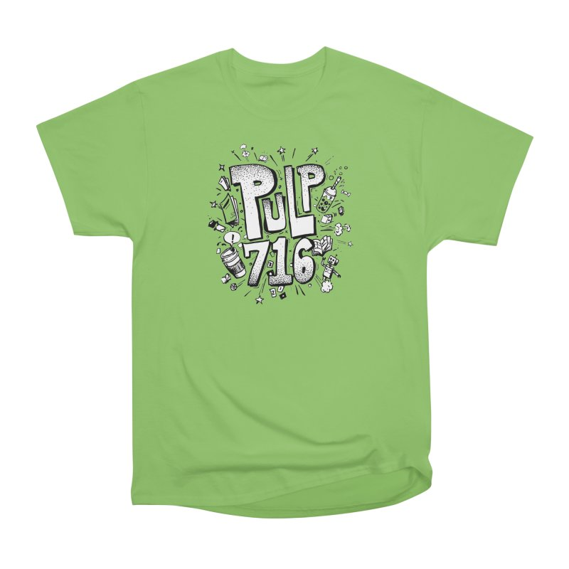 Pulp 716 pop art logo Women's T-Shirt by Pulp 716 Coffee & Comics collection by threadless