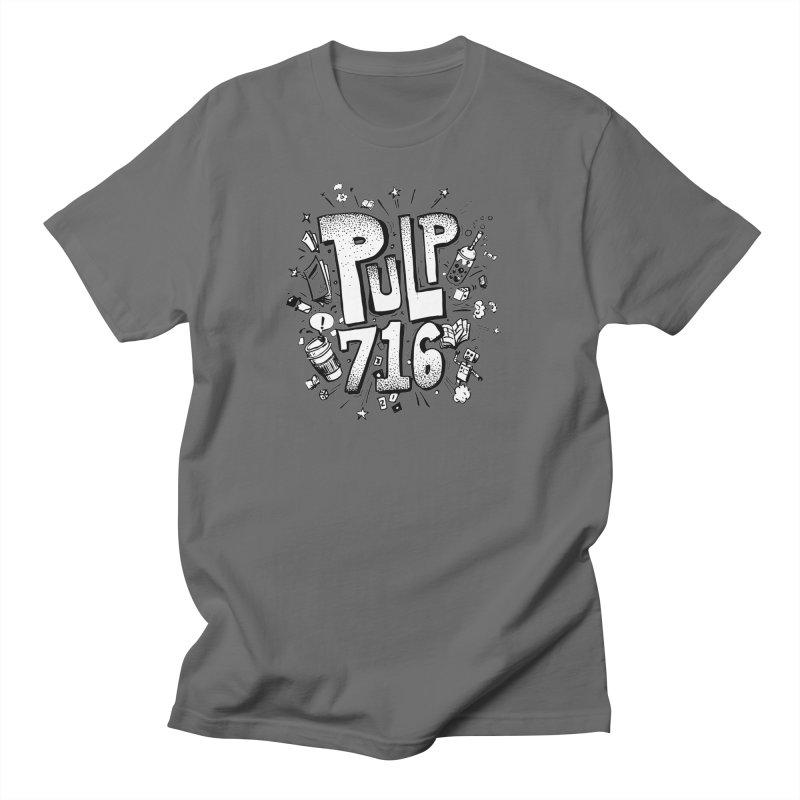 Pulp 716 pop art logo Men's T-Shirt by Pulp 716 Coffee & Comics collection by threadless