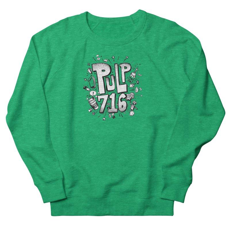 Pulp 716 pop art logo Women's Sweatshirt by Pulp 716 Coffee & Comics collection by threadless