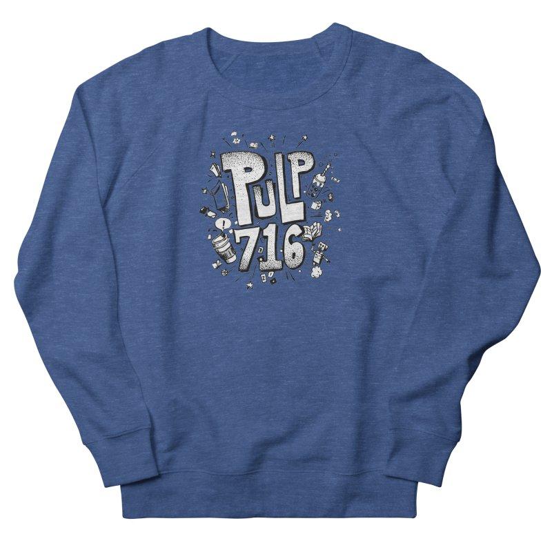 Pulp 716 pop art logo Men's Sweatshirt by Pulp 716 Coffee & Comics collection by threadless