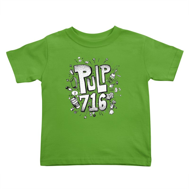 Pulp 716 pop art logo Kids Toddler T-Shirt by Pulp 716 Coffee & Comics collection by threadless