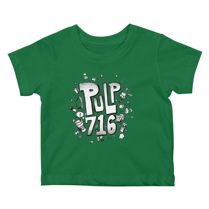 Pulp 716 pop art logo Kids Baby T-Shirt by Pulp 716 Coffee & Comics collection by threadless