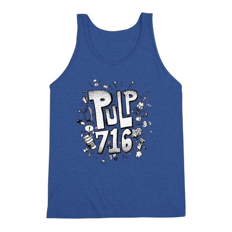 Pulp 716 pop art logo Men's Tank by Pulp 716 Coffee & Comics collection by threadless