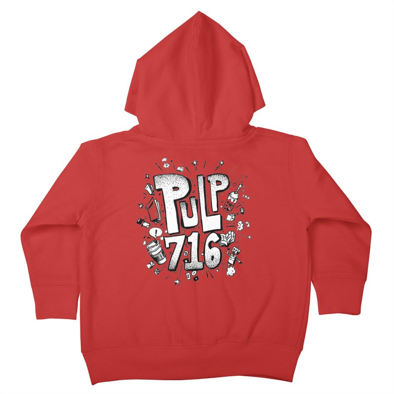 Pulp 716 pop art logo Kids Toddler Zip-Up Hoody by Pulp 716 Coffee & Comics collection by threadless