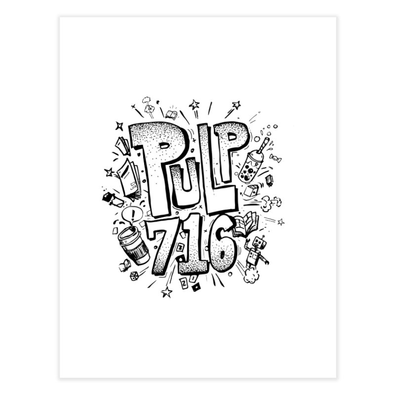 Pulp 716 pop art logo Home Fine Art Print by Pulp 716 Coffee & Comics collection by threadless