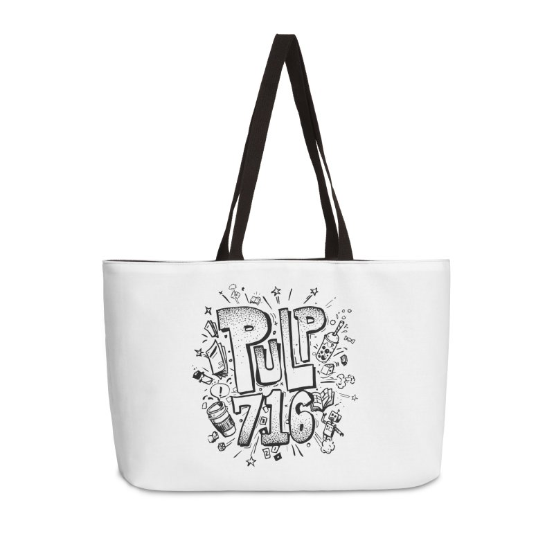 Pulp 716 pop art logo Accessories Bag by Pulp 716 Coffee & Comics collection by threadless