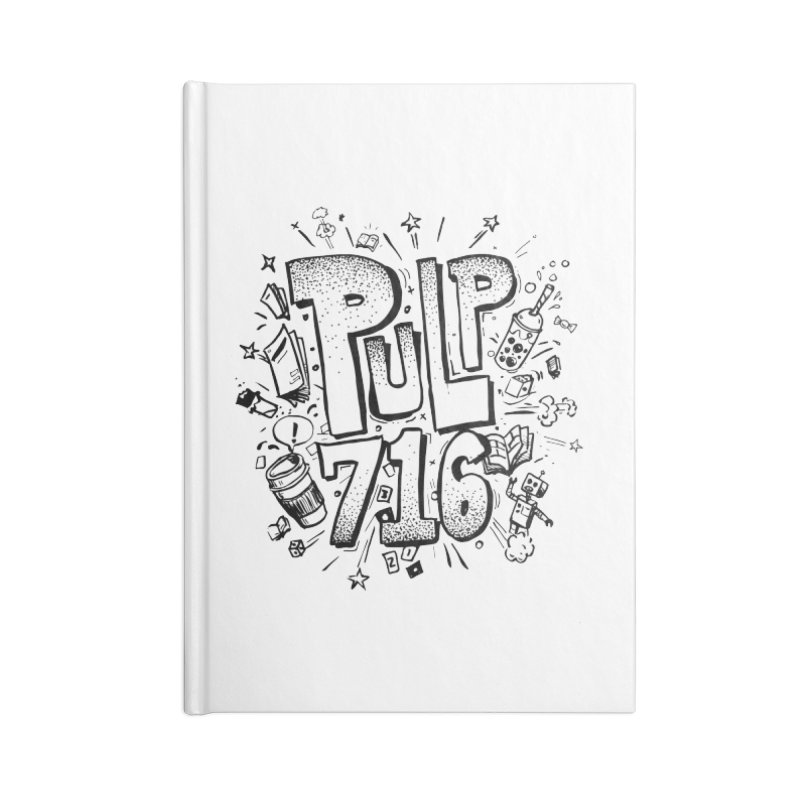 Pulp 716 pop art logo Accessories Notebook by Pulp 716 Coffee & Comics collection by threadless