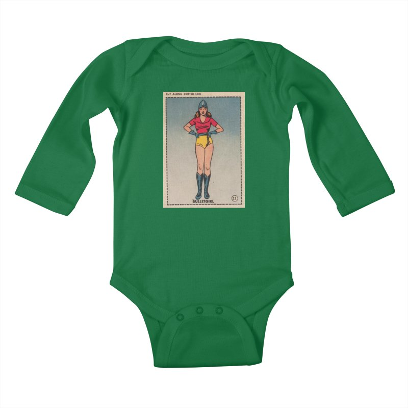 Retro (Limited Edition, 100 orders) Kids Baby Longsleeve Bodysuit by Pulp 716 Coffee & Comics collection by threadless