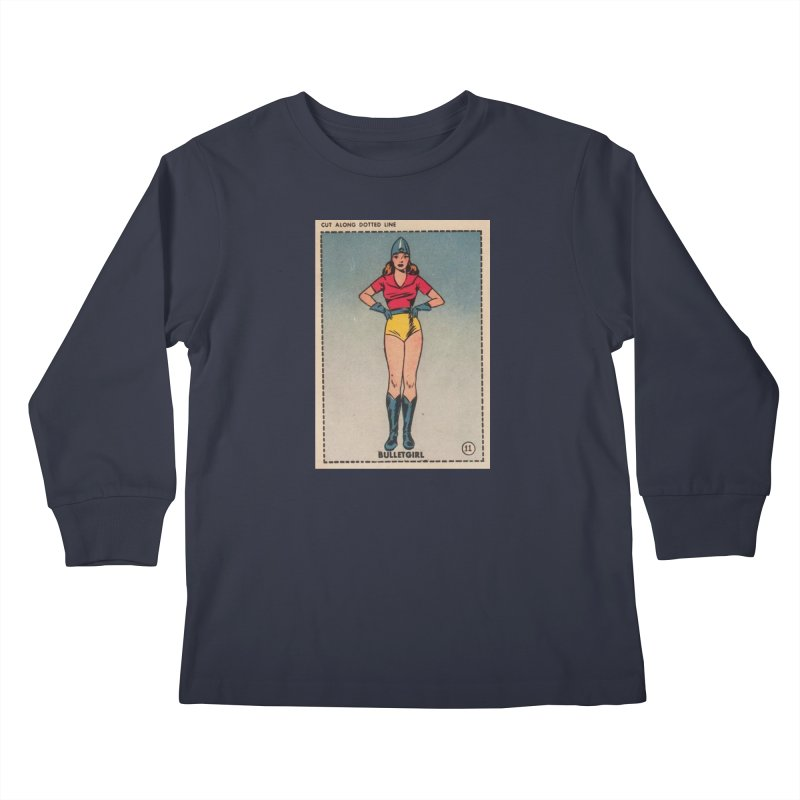 Retro (Limited Edition, 100 orders) Kids Longsleeve T-Shirt by Pulp 716 Coffee & Comics collection by threadless