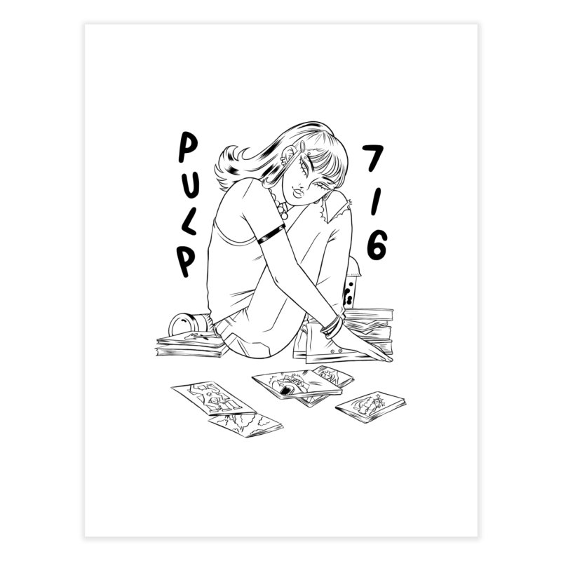 Coffee & Comics by Carmen Pizarro (whites & light colors) Home Fine Art Print by Pulp 716 Coffee & Comics collection by threadless