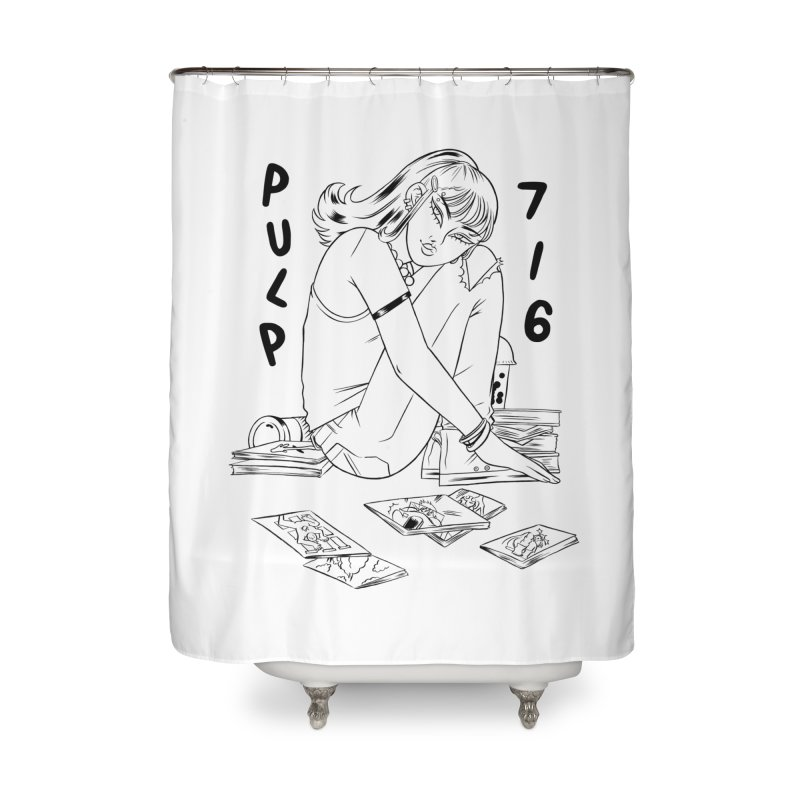 Coffee & Comics by Carmen Pizarro (whites & light colors) Home Shower Curtain by Pulp 716 Coffee & Comics collection by threadless