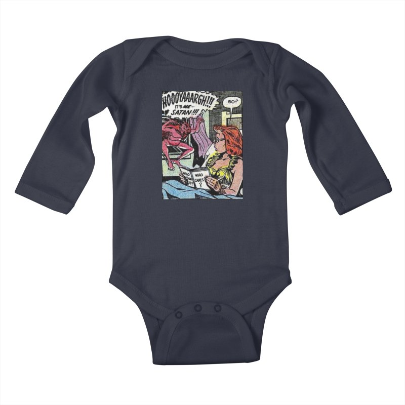 So, who cares? Kids Baby Longsleeve Bodysuit by Pulp 716 Coffee & Comics collection by threadless