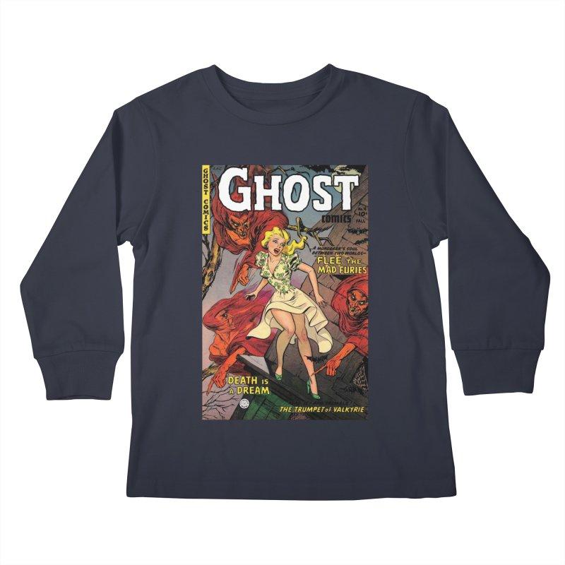 Eeek a bat! Kids Longsleeve T-Shirt by Pulp 716 Coffee & Comics collection by threadless