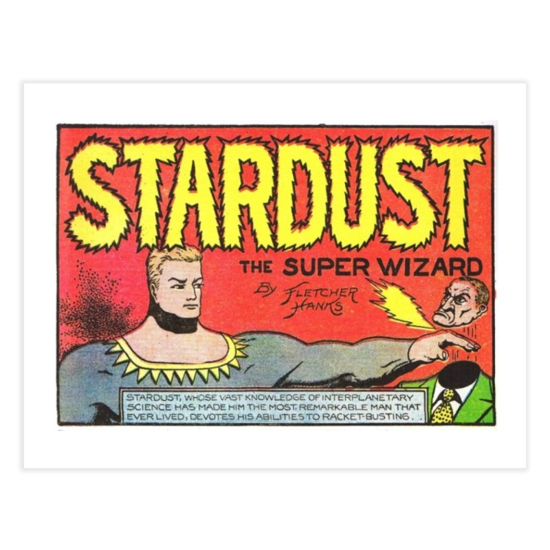 Super Wizard Home Fine Art Print by Pulp 716 Coffee & Comics collection by threadless