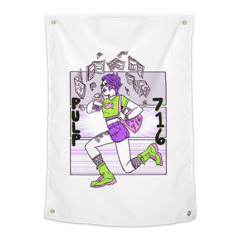 Pulp 716 by Sloane Leong Home Tapestry by Pulp 716 Coffee & Comics collection by threadless