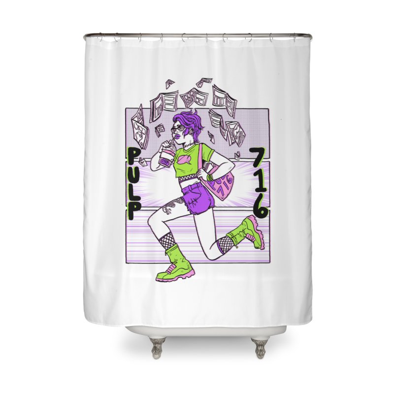 Pulp 716 by Sloane Leong Home Shower Curtain by Pulp 716 Coffee & Comics collection by threadless