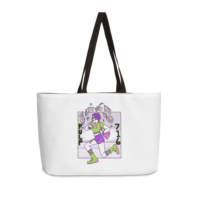 Pulp 716 by Sloane Leong Accessories Bag by Pulp 716 Coffee & Comics collection by threadless