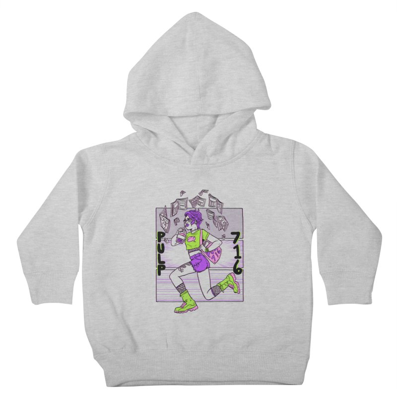 Pulp 716 by Sloane Leong Kids Toddler Pullover Hoody by Pulp 716 Coffee & Comics collection by threadless