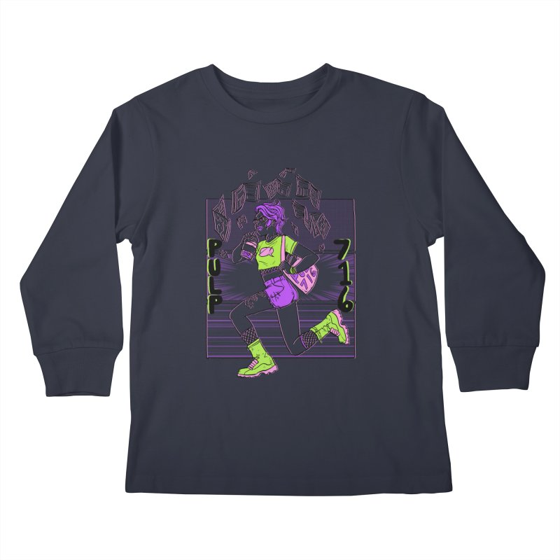 Pulp 716 by Sloane Leong Kids Longsleeve T-Shirt by Pulp 716 Coffee & Comics collection by threadless