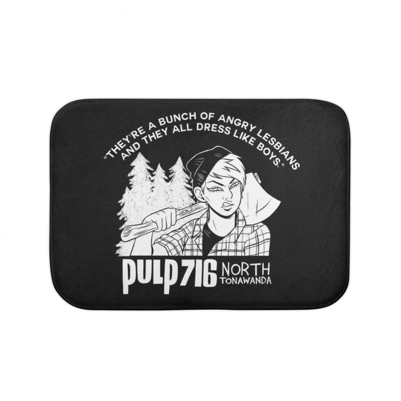 They're A Bunch Of... (Version 1) By Carmen Pizarro Home Bath Mat by Pulp 716 Coffee & Comics collection by threadless