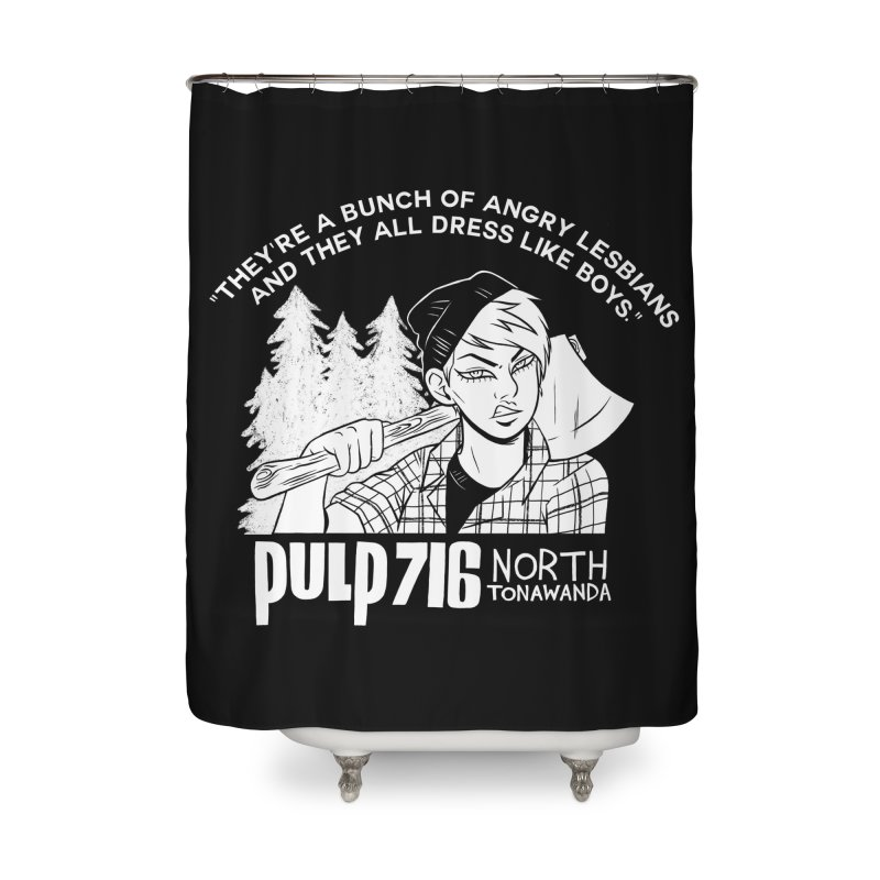 They're A Bunch Of... (Version 1) By Carmen Pizarro Home Shower Curtain by Pulp 716 Coffee & Comics collection by threadless