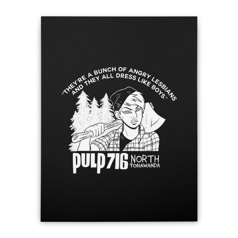 They're A Bunch Of... (Version 1) By Carmen Pizarro Home Stretched Canvas by Pulp 716 Coffee & Comics collection by threadless