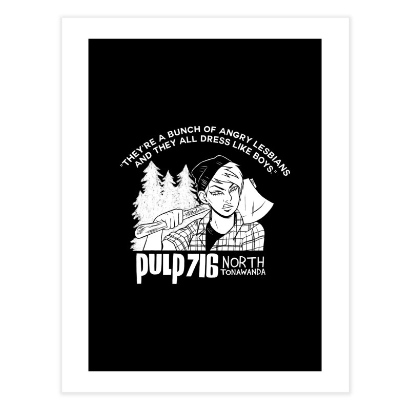 They're A Bunch Of... (Version 1) By Carmen Pizarro Home Fine Art Print by Pulp 716 Coffee & Comics collection by threadless