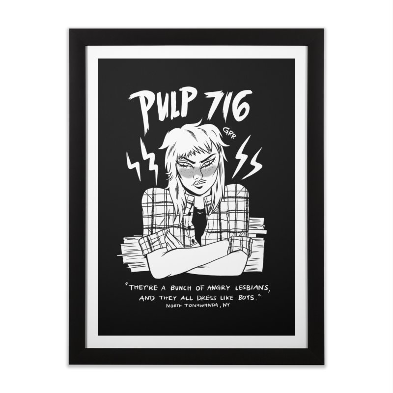 They're A Bunch Of.. (Version 2) By Carmen Pizarro Home Framed Fine Art Print by Pulp 716 Coffee & Comics collection by threadless