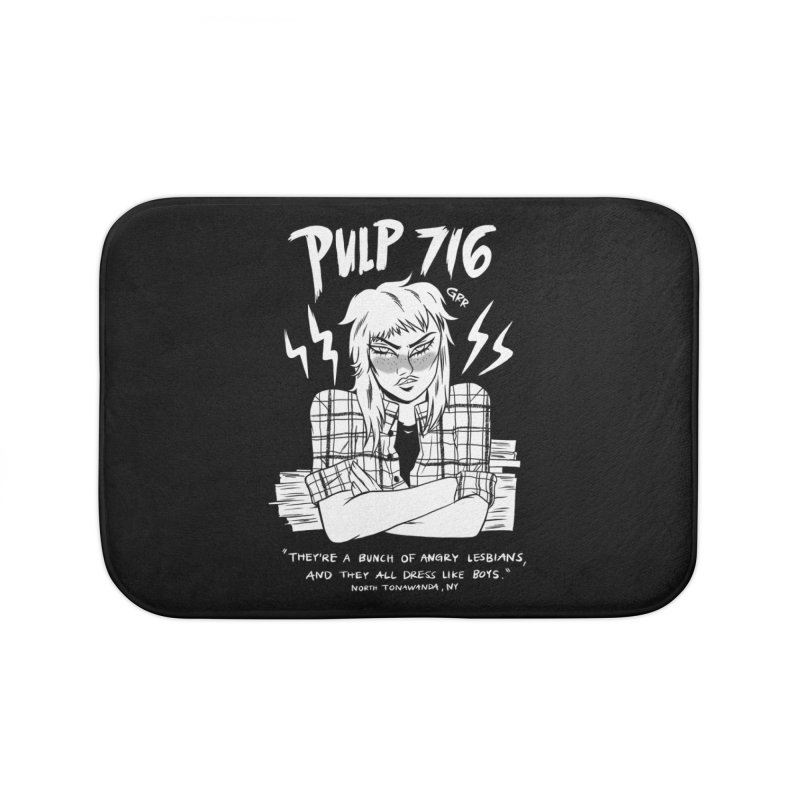 They're A Bunch Of.. (Version 2) By Carmen Pizarro Home Bath Mat by Pulp 716 Coffee & Comics collection by threadless