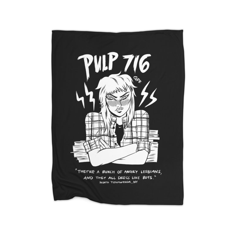 They're A Bunch Of.. (Version 2) By Carmen Pizarro Home Blanket by Pulp 716 Coffee & Comics collection by threadless