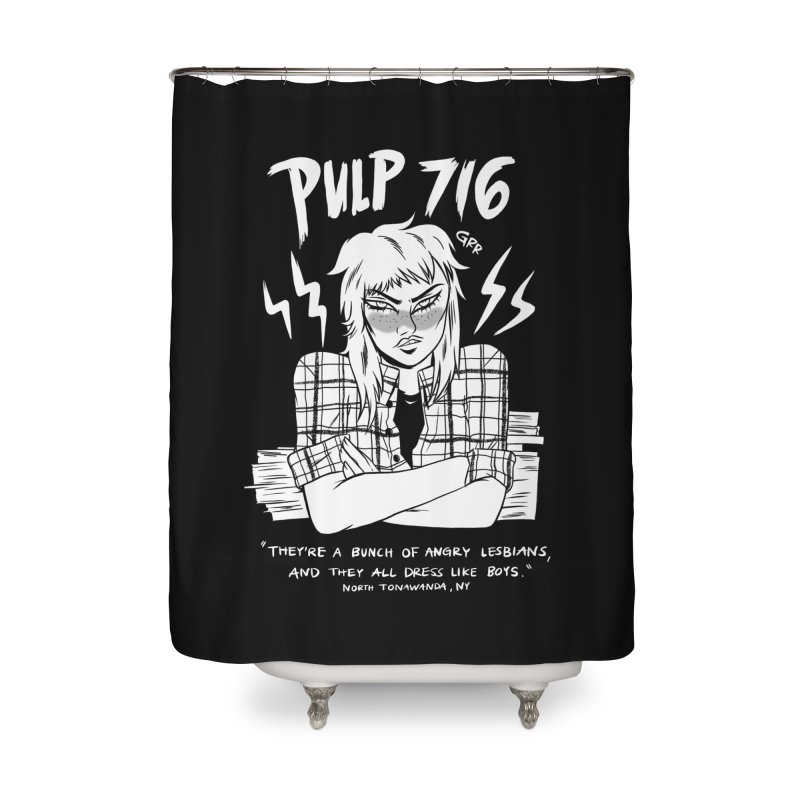 They're A Bunch Of.. (Version 2) By Carmen Pizarro Home Shower Curtain by Pulp 716 Coffee & Comics collection by threadless