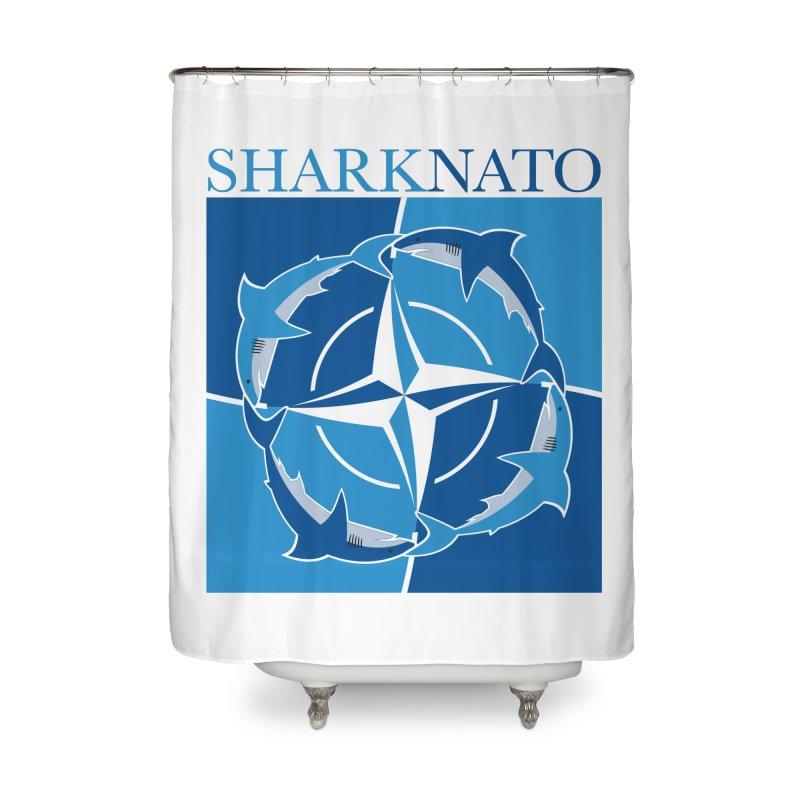 Shark-NATO Home Shower Curtain by Puttyhead's Artist Shop