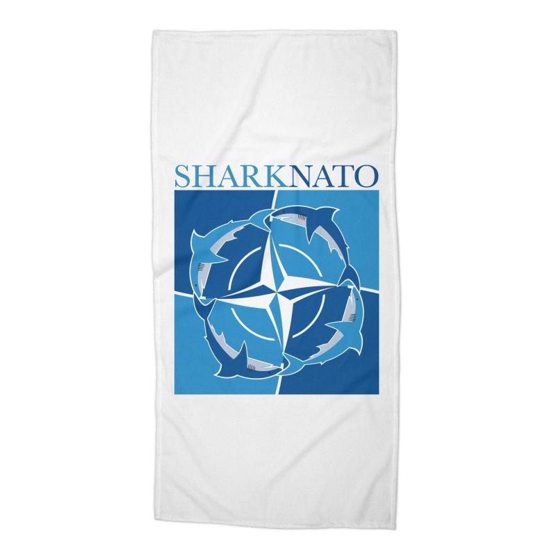 Shark-NATO Accessories Beach Towel by Puttyhead's Artist Shop