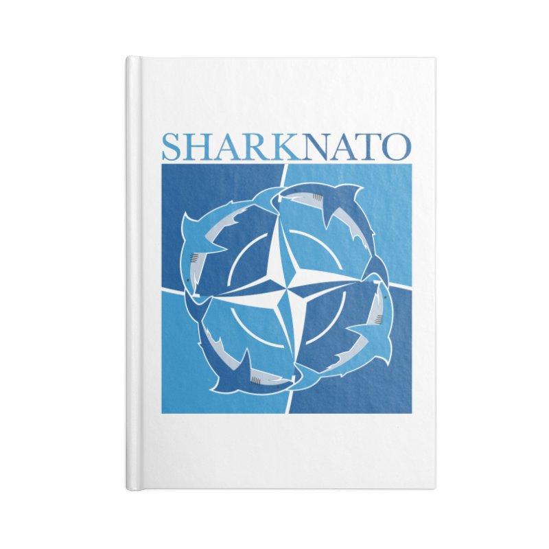 Shark-NATO Accessories Lined Journal Notebook by Puttyhead's Artist Shop