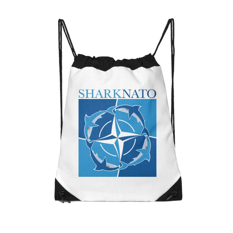 Shark-NATO Accessories Drawstring Bag Bag by Puttyhead's Artist Shop