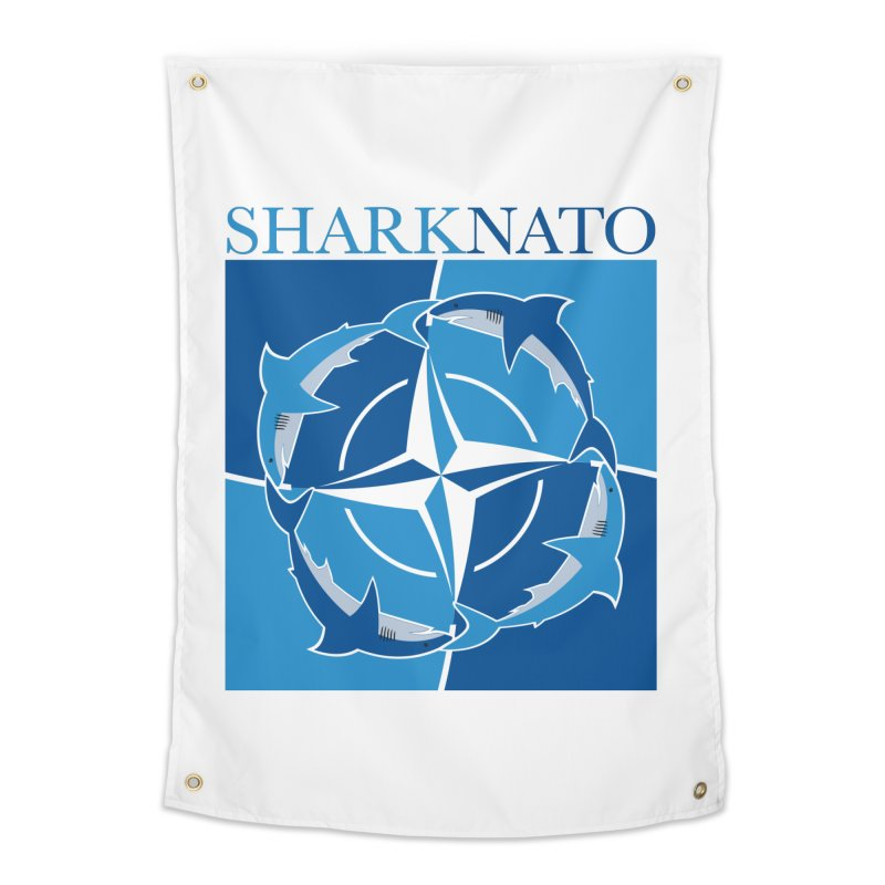 Shark-NATO Home Tapestry by Puttyhead's Artist Shop