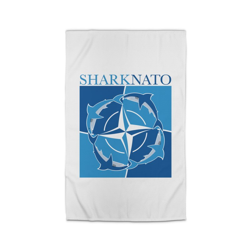 Shark-NATO Home Rug by Puttyhead's Artist Shop