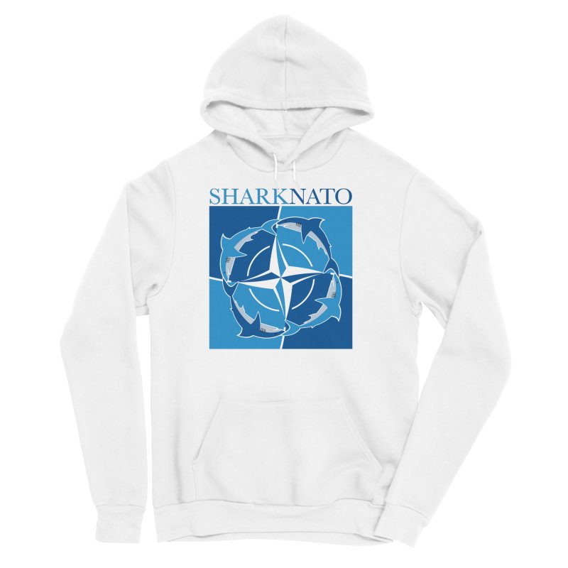 Shark-NATO Men's Sponge Fleece Pullover Hoody by Puttyhead's Artist Shop